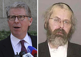 From left: Manhattan District Attorney Cyrus Vance Jr. and David Weiszer