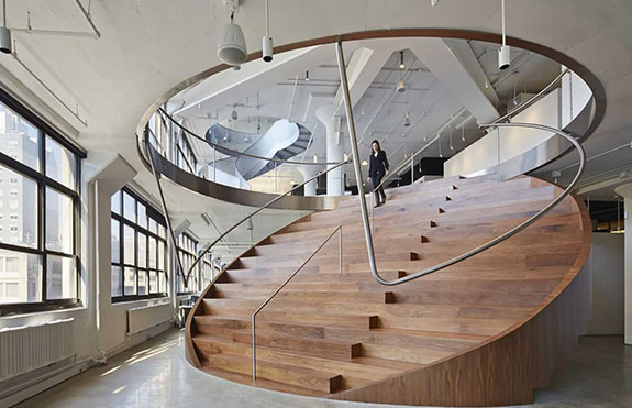 The interior of the Wieden+Kennedy office in New York