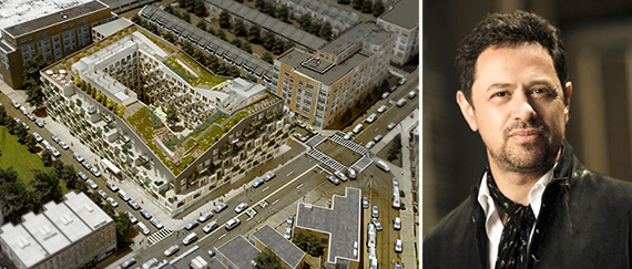 A rendering of 10 Montieth Street and Eran Chen (credit: ODA Architecture)