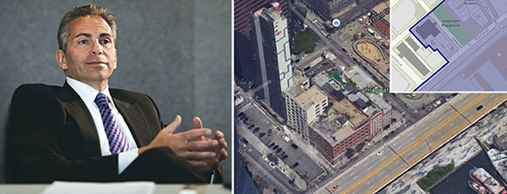David Weinreb and the Howard Hughes Corp. development site (photo credit Max Dworkin)