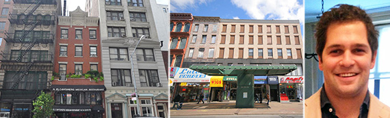 From left: 86 University Place, 579 Fulton Street and Ben Bernstein