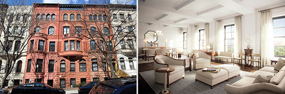 From left: 55-57 West 88th Street and a rendering of Greenwich Lane