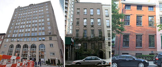 From left: 62 Cooper Square, 184 East 64th Street and 39 West 10th Street