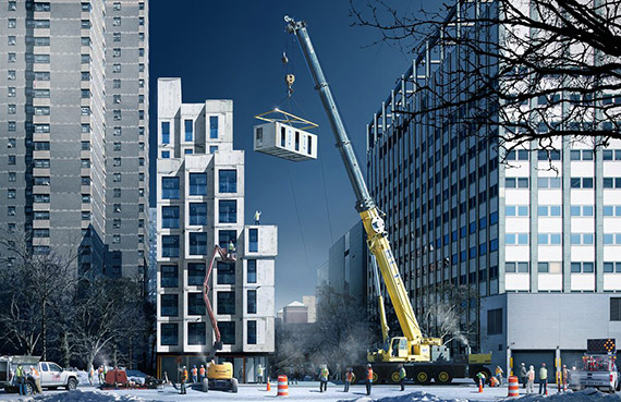 Rendering of My Micro NY at 335 East 27th Street in Kips Bay (credit: nARCHITECTS)