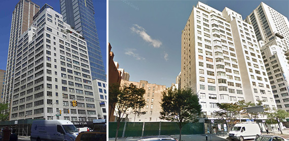 From left: 355 East 72nd Street, a development site at 1179-1183 Second Avenue and 250 East 63rd Street