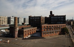 Panoramic view of Mana Contemporary's 2-million-square-foot campus in Jersey City. Photo by Adam Cohen.