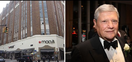 The Macy's store at 422 Fulton Street and Jerry Speyer (Credit: Adam Pincus)