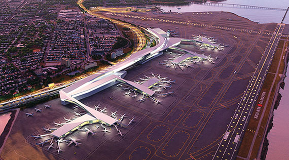 A rendering of the $3.6 billion overhaul of LaGuardia Airport. The first phase is set to break ground next year and open to passengers in 2019.