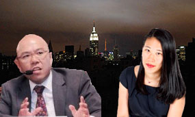 From left: Carl Hum and Angela Sung Pinsky