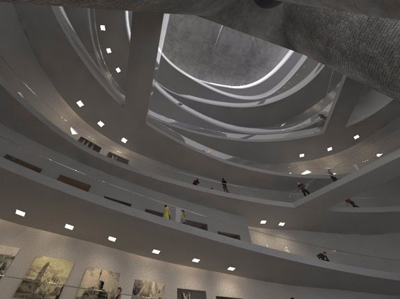 A museum inside the statue would display ancient Greek treasures currently stored away.