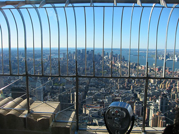 The Empire State Building's observation deck