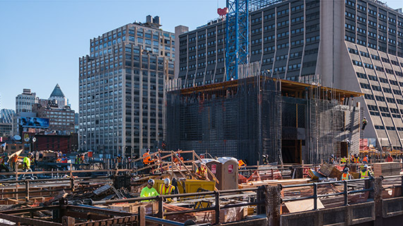 Construction at Hudson Yards