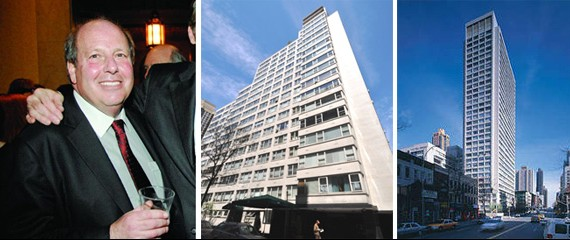 From left: Feil CEO Jeffrey Feil, Clermont York at 445 East 80th Street, and the Clermont at 444 East 82nd Street