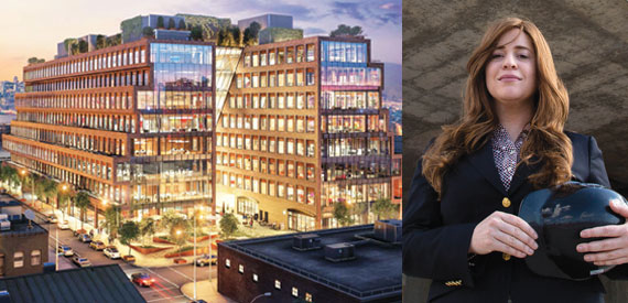 A renderings of 25 Kent Street in North Williamsburg and developer Toby Moskovits