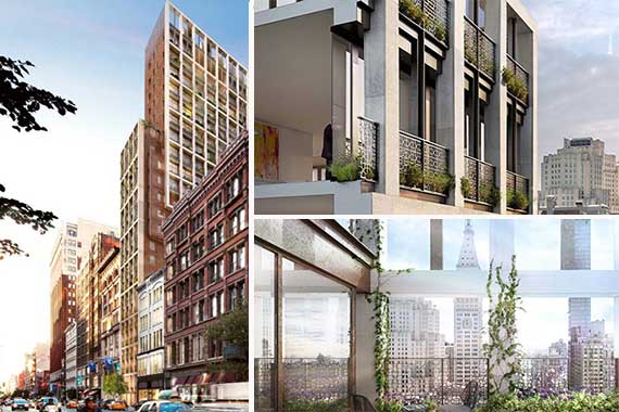 Renderings of 39 West 23rd Street in the Flatiron District
