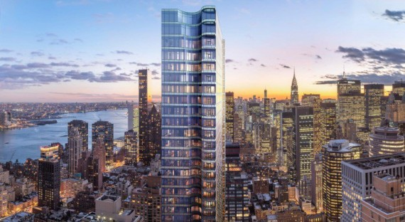 A rendering of 252 East 57th Street (credit: World Wide Group)