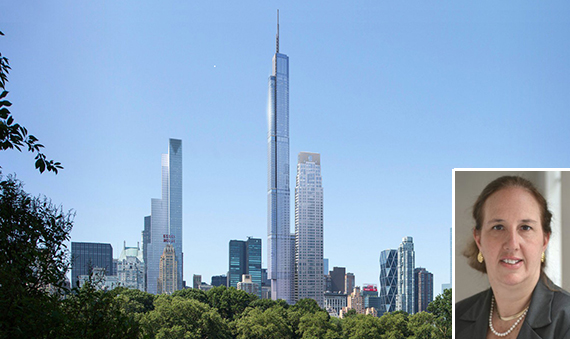 The Nordstrom Tower at (inset Gail Brewer)