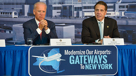 From left: Joe Biden and Andrew Cuomo (credit: Governor's office)