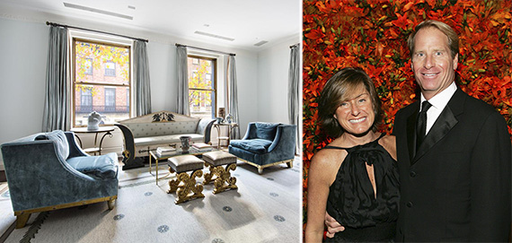 Kent and Liz Swig and their former 740 Park Avenue apartment