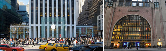 The General Motors Building and the Niketown store at 6 East 57th Street