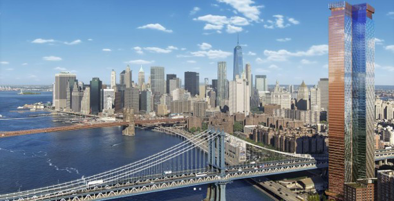 A rendering of One Manhattan Square