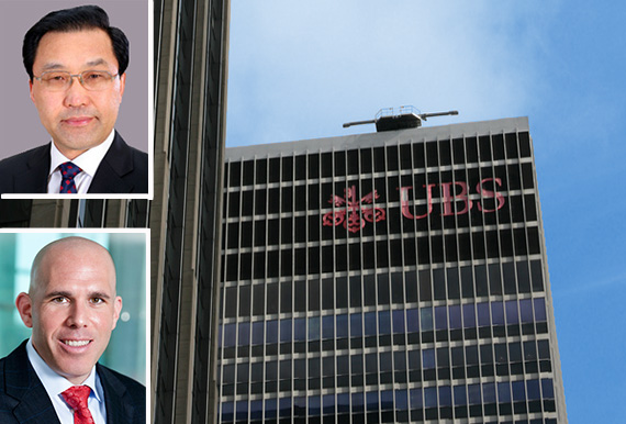 1285 Sixth Avenue (inset: Yang Mingsheng Chairman of China Life Insurance Group and Scott Rechler)