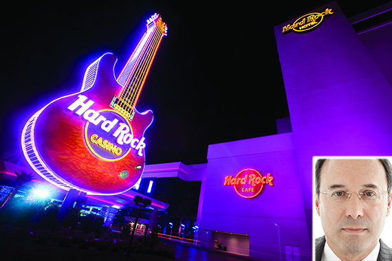 Hard Rock Hotel and Casino in Biloxi, Miss. (credit: Santcomm) (inset: Gary Barnett (credit: STUDIO SCRIVO))