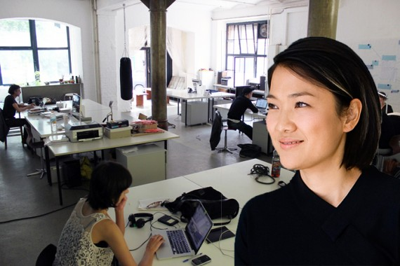 A coworking space and SOHO China's Zhang Xin