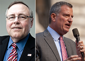 Steve Spinola and Bill de Blasio
