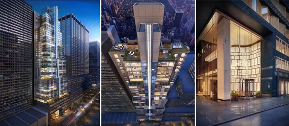 Renderings of 135 West 52nd Street (Credit: Williams New York)