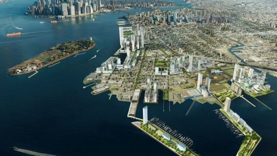 Rendering of Red Hook waterfront redevelopment (credit: AECOM)