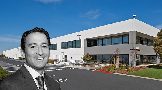 Blackstone's Jonathan Gray and LBA Logistics Center at 8311 Central Avenue in Newark, California