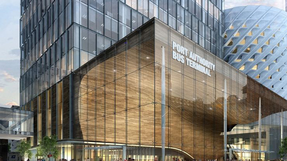 One of the proposed designs for the Port Authority Bus Terminal (credit: Archilier Architecture)