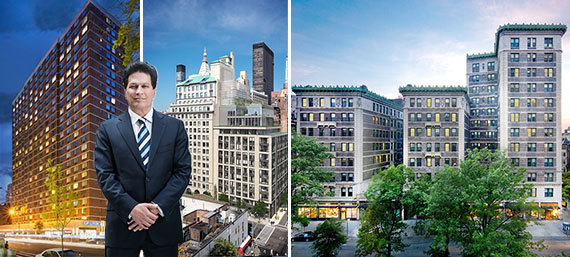 From left: 301 West 53rd Street, Ziel Feldman, 88 and 90 Lexington Avenue and 235 West 75th Street