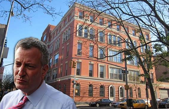 Bill de Blasio and Rivington House at 45 Rivington Street
