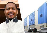 Carmelo Anthony and 845 East 136 Street in the Bronx (Credit: Getty Images)