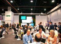 CBRE's booth at ICSC