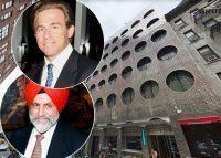 Dream Hotel Group's Sant Singh Chatwal (left) and Charles Holzer (right) and 355 West 16th Street (Credit: Getty Images and Google Maps)