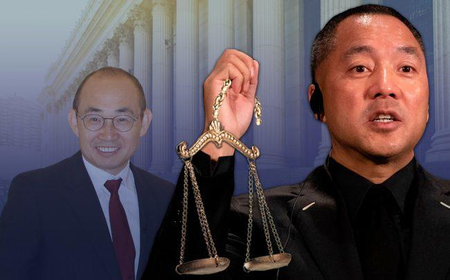 From left: Pan Shiyi and Guo Wengui (Credit: Wikipedia, Getty Images, iStock)