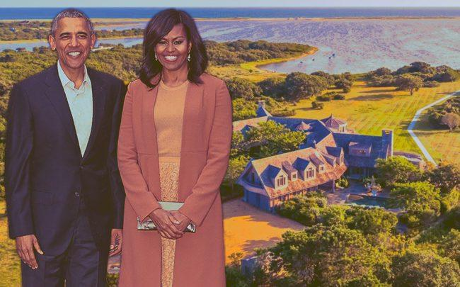 The Obamas and 79 Turkeyland Cove Road (Credit: Getty Images, Zillow)