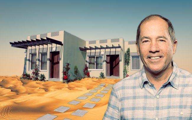 Katerra CEO Michael Marks and one of the company's prefabrication homes in Saudi Arabia (Credit: YouTube, iStock)