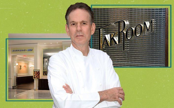 Thomas Keller with Bouchon Bakery and TAK Room in Hudson Yards (Taylor Hill/FilmMagic, Bouchon Bakery by David Escalante via Thomas Keller Restaurant Group; TAK Room by John Lamparski/Getty Images for The Conservatory NYC)