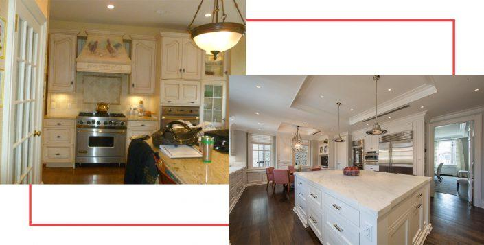 Before and after images of a kitchen from The Renovated Home