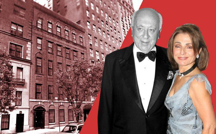 40 East 72nd Street and Spiros and Antonia Milonas (Getty; Google Maps)