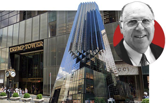 Trump Tower and (inset) Henry Laufer (Google Maps, Archetron)