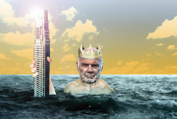 Photo illustration of Steve Roth and 220 Central Park South