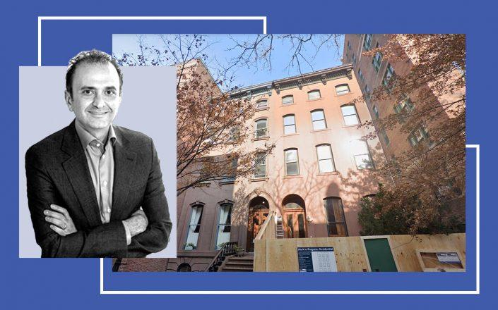 Behzad Aghazadeh and Brooklyn Town Hall (photos via Avoro Capital and Google Maps)