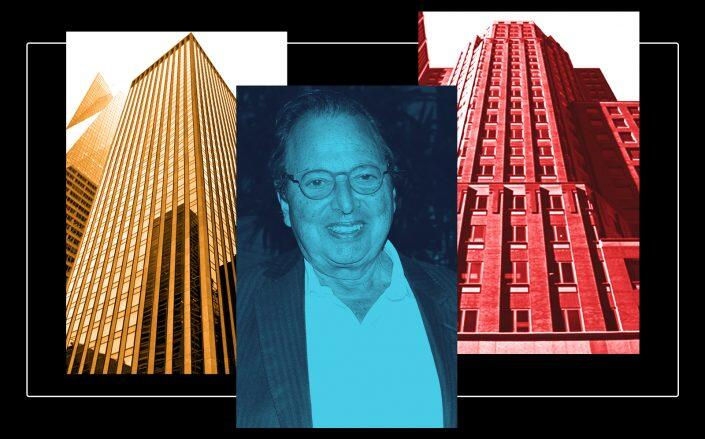 Douglas Durst with 1133 Avenue of the Americas (left) and 114 West 47th Street (Google Maps, Getty)