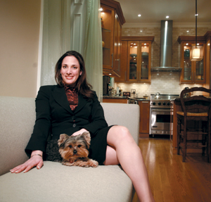 Jessica Cohen of Prudential Douglas Elliman at 140 West 69th Street, a building popular with suburban baby boomers.