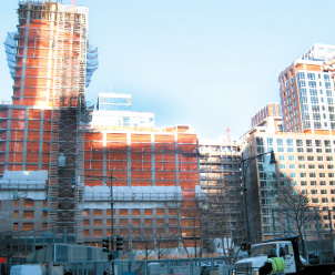 Liberty Luxe, left, and Liberty Green, Milstein Properties' new condos